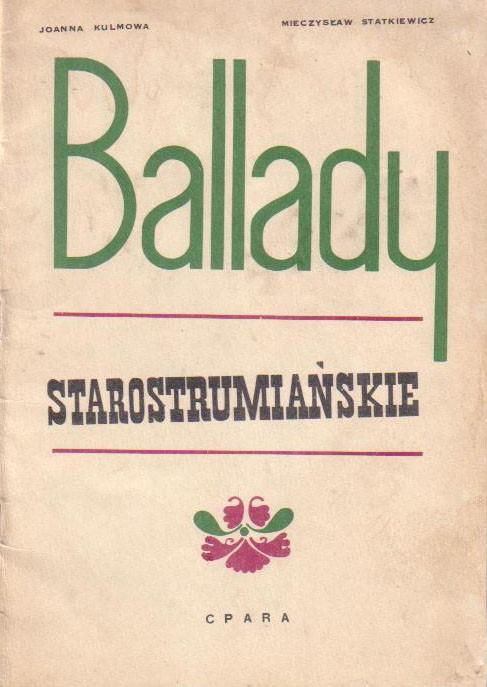 Ballady strumiańskie - książka