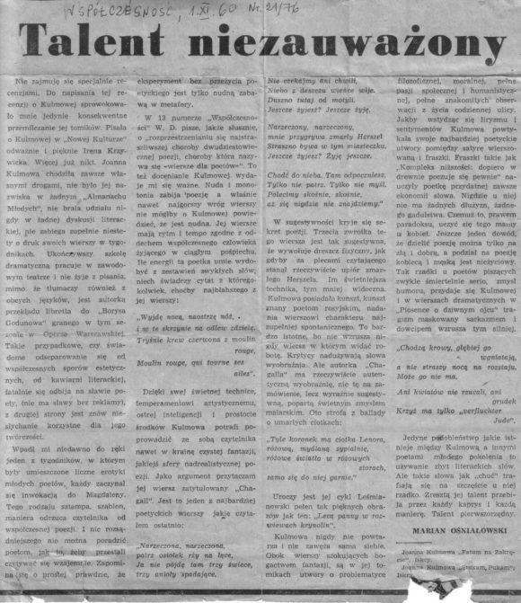 5a94f80f91d90 Materiały prasowe - Pracownia Badań Nad Twórczością Joanny Kulmowej