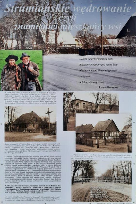 Strumiańskie wędrowanie – tablica pamiątkowa
